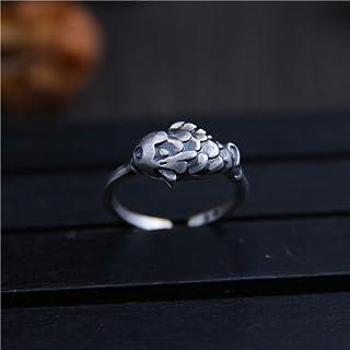 GHY Anello da Donna Anello d'Argento Tailandese d'Epoca Anello Decorativo Anello di San Valentino,Immagine,Taglia Unica