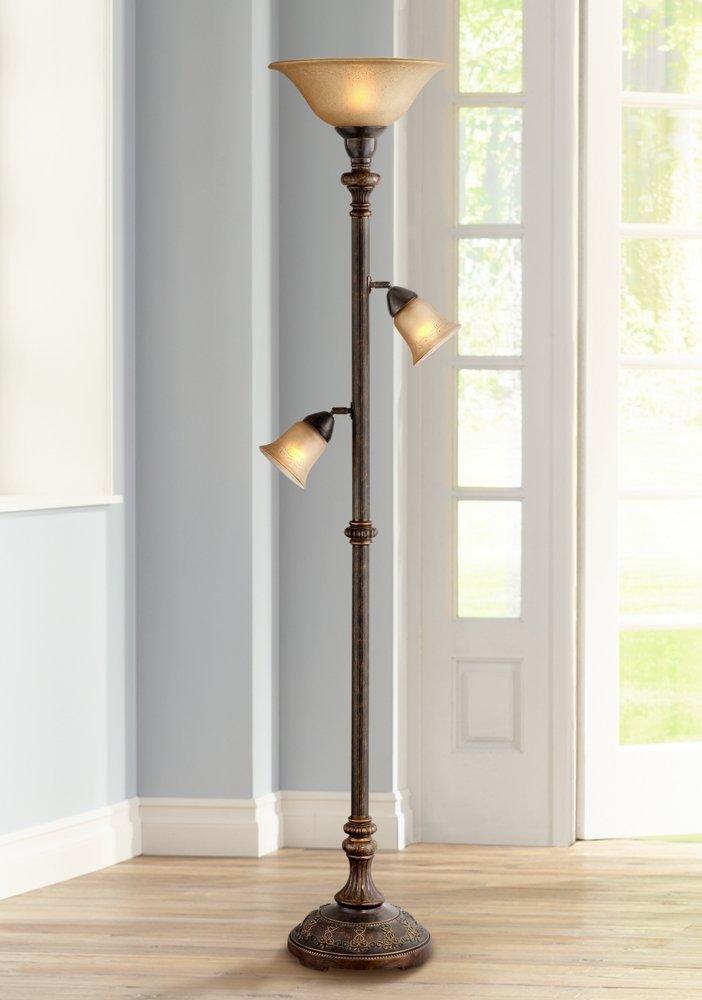 Italian Bronze 3-in-1 Torchiere Floor Lamp - - Amazon.com