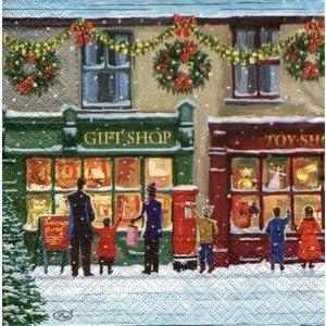 Immagini Vintage Natale.12 Pezzi Sebnini 3 Pieghe Tovaglioli Stampare Tovaglioli Vintage Natale Amazon It Casa E Cucina