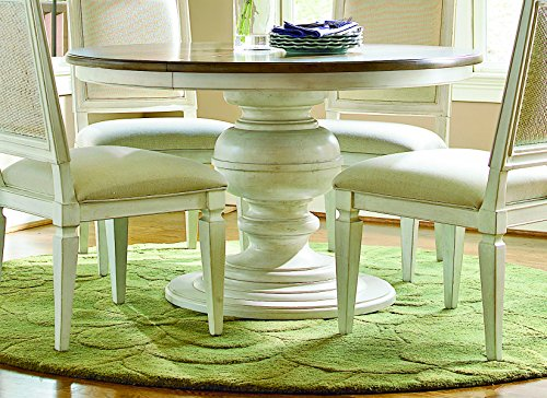 - Universal Furniture Summer Hill Collection Complete Round Table Top with Single Pedestal Base, Cotton