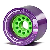 Orangatang Kegel 80 mm 83a Downhill Longboard Skateboard Cruising Wheels (Purple, Set of 4)