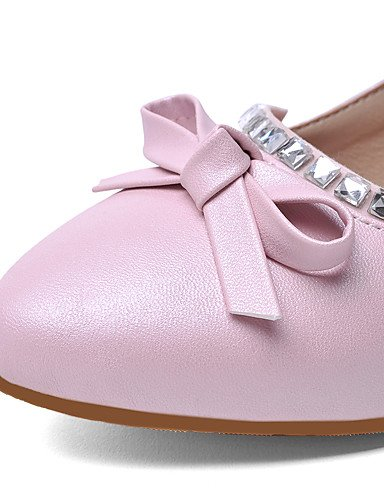 GGX/Damen Schuhe PU Sommer/spitz Toe Heels Büro & Karriere/Casual geschoben Ferse funkelnden Glitzer Blau/Pink/Weiß white-us6.5-7 / eu37 / uk4.5-5 / cn37