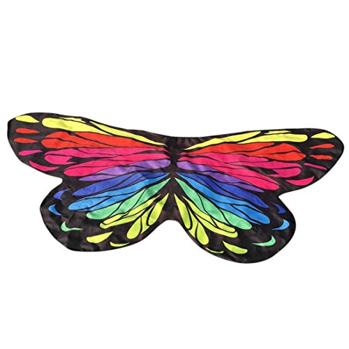 [Butterfly Wings Cape, Soft Fabric Butterfly Wings Party Costume, Shawl Wrap Fairy Ladies Nymph Pixie Costume Accessory for Stage, Halloween Party, Beach, Dance by BSGSH] (Dance Festival Costumes)