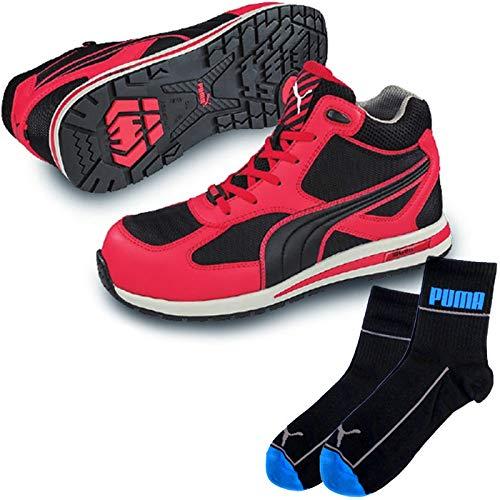 PUMA(プーマ) 安全靴 フルツイスト 26.0cm レッド ミッド PUMA ソックス 靴下付セット 63.201.0  B07R58XKZX