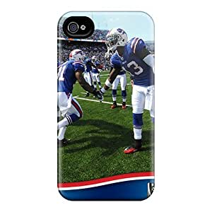 Great Hard Cell-phone Cases For Iphone 4/4s With Customized Realistic Buffalo Bills Image AaronBlanchette