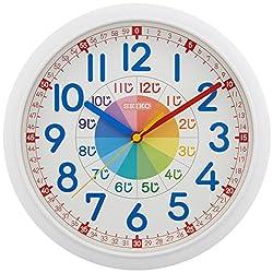 Seiko CLOCK clock educational wall clock (white) KX617W
