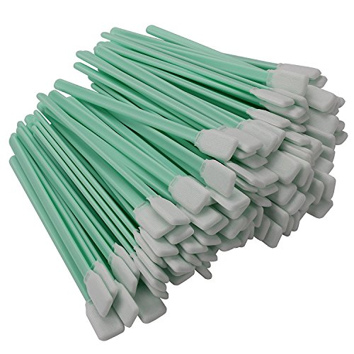 "VANLAN 100pcs 5.1"" Polyester Cleaning Swab Sticks For Solvent Format Inkjet Printer Roland Optical Equipment"