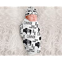 Personalized Baby Boys Buffalo Blanket Baby Boy Blanket Baby Boy Monogram Blanket Baby Boys Gift Baby Shower Gift for Boys Tribal Blanket