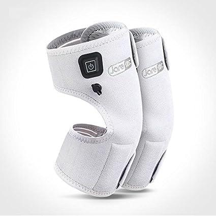 Almohadilla electrica calor rodilla recargable con función de moxibustión, 3 niveles de temperatura, gray