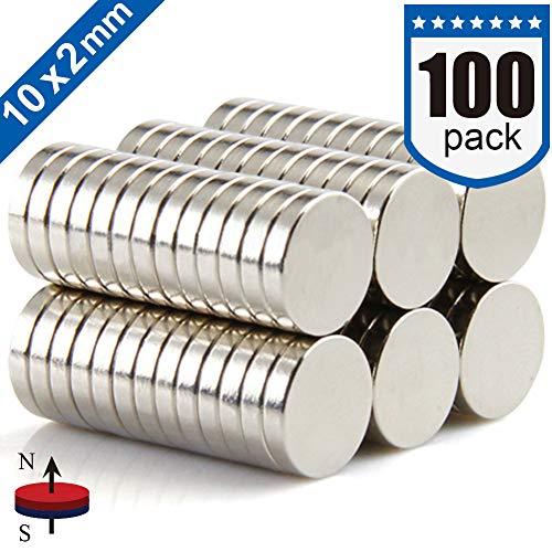 DIYMAG Refrigerator Magnets, 10 x 2 mm, 100 piece -