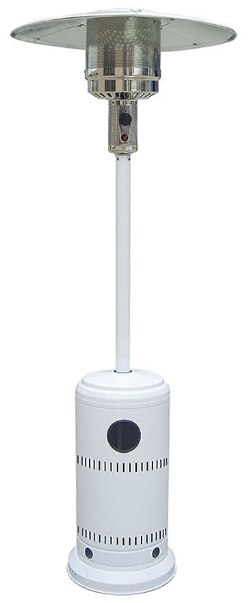 K2Calore Niklas Estufa de Gas para Exterior Blanco, 218x78x78 cm