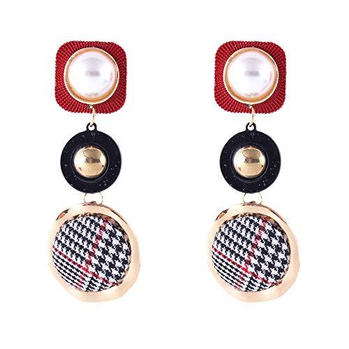 (Toaimy Earings Spherical Round Connection Earrings Dot Print Earrings Stud Earring For Women Girl Hoop Drop)