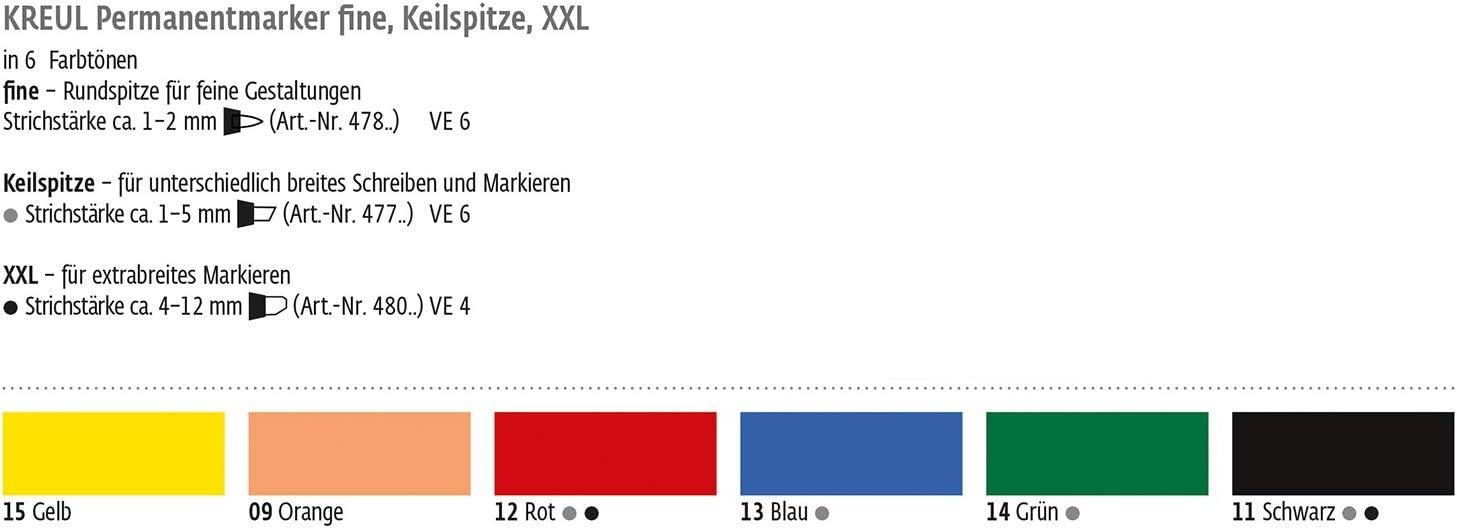 Permanentmarker 3-5MM Keilspitze 4er