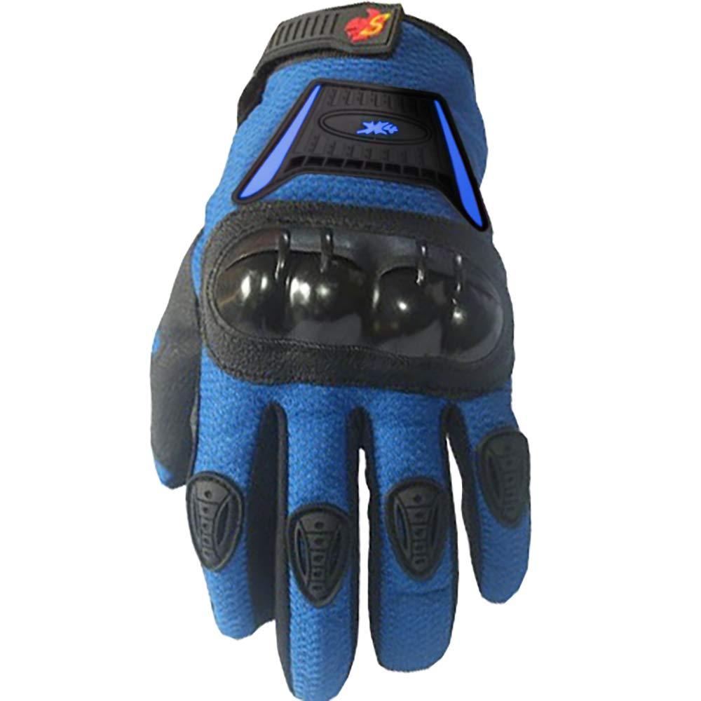 Street Bike Full Finger Motorcycle Gloves 09 Large, black