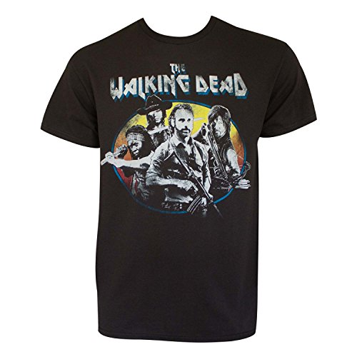 Walking Dead Group Vintage Rock Concert Adult T-Shirt (Medium) (Vintage Walking T-shirt)