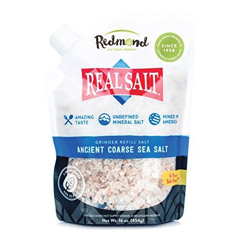 Redmond Real Salt- Natures First Sea Salt- Coarse Salt- Grinder Refill Pouch (1 Pack)