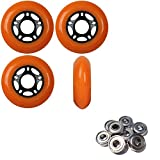 Player's Choice OUTDOOR Inline Skate Wheels 72MM 89a ORANGE x4 W/ABEC 9 BEARINGS