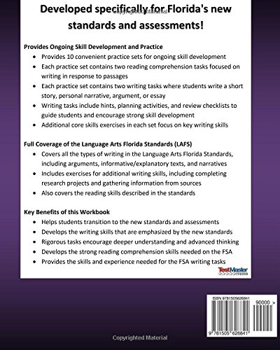 Amazon.com: FLORIDA TEST PREP Reading and Writing Student Workbook ...