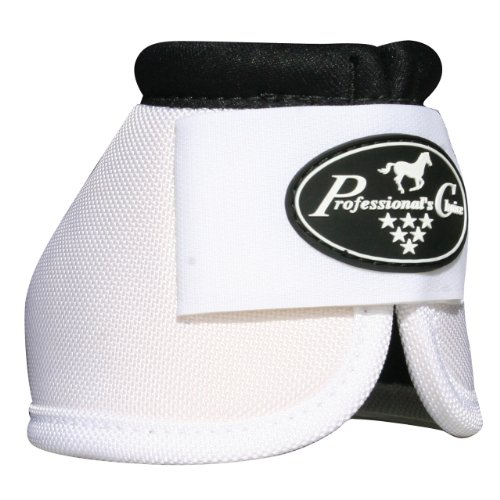 Professionals Choice Equine Ballistic Hoof Overreach Bell Boot, Pair (Medium, White)