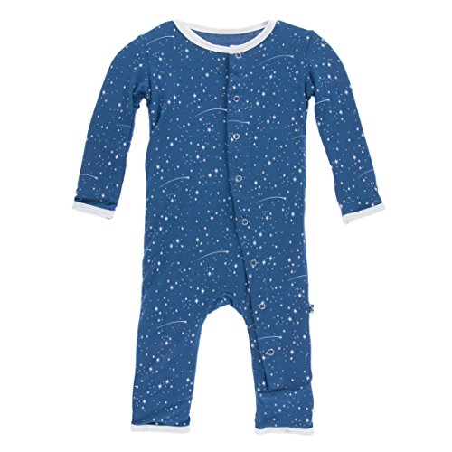 KicKee Pants Little Boys Print Coverall (Snaps) - Twilight Starry Sky, 9-12 Months