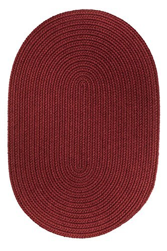 Super Area Rugs, Maui Braided Indoor Outdoor Rug Washable Reversible Red Patio Porch Kitchen Carpet, 3' X 5' (Oval Outdoor Braided Rug)