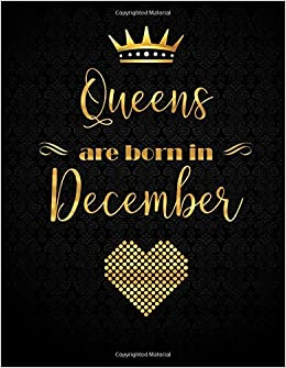 queens are born in gold lettering designed xl journal