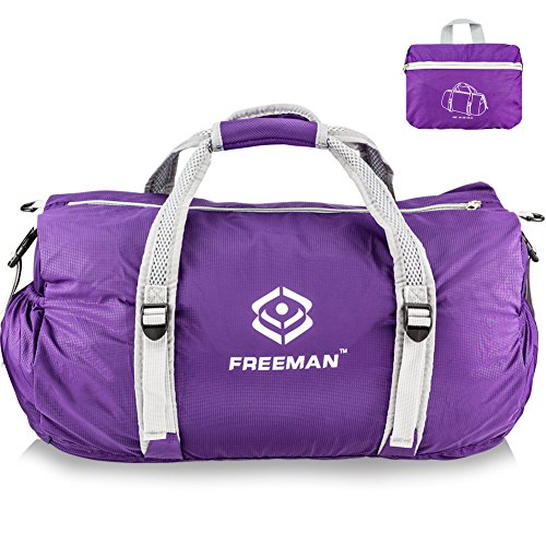 Freeman Small Sports Duffel Gym bag for Men Women,Lightweight Compact with Pockets – DiZiSports Store
