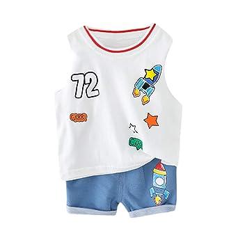 Amazon.com: Conjunto de camisetas de algodón con estampado ...