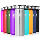 27 oz Vacuum Insulated Stainless Steel Water Bottle, Leak Proof and Built-in Filter | Best Double Walled Travel Wide Mouth Coffee Mug(Large Small) for Outdoor Sports Camping,Keeps Drink Hot & Cold