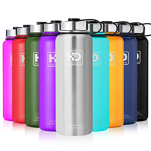 Containers Drink Steel Stainless (27 oz Vacuum Insulated Stainless Steel Water Bottle, Leak Proof and Built-in Filter | Best Double Walled Travel Wide Mouth Coffee Mug(Large Small) for Outdoor Sports Camping,Keeps Drink Hot & Cold)