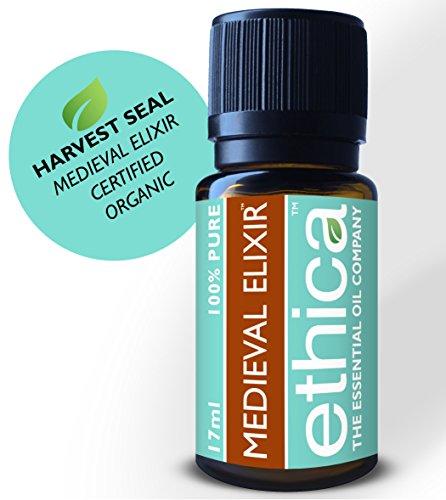 Thieves Medieval Elixir Essential Oil | 17ML, Certified Organic, Single-Origin, 100% Authentic Clove, Lemon, Cinnamon Bark, Eucalyptus Radiata, Orange and Rosemary (Formerly Thieves Guard)