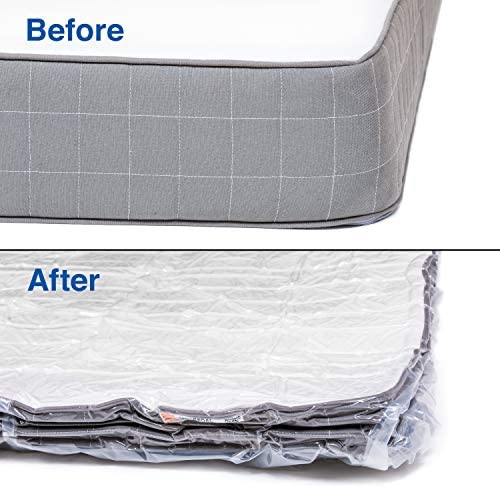 Queen Mattress Vacuum Bag for Moving Compress Mattress to Fraction of Its Size , Work with Most of Household Vacuum Cleaners Best Mattress Bag (Queen/Full-XL/Full)