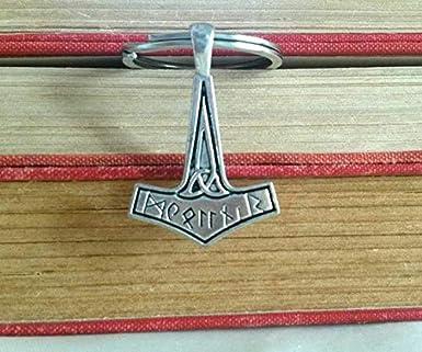Royal Swan Mjölnir Thorshammer Charm Schlüsselanhänger Wikinger Schlüsselanhänger Thorshammer Schlüsselanhänger Mjölnir Schlüsselanhänger Norse Unisex Schlüsselanhänger Für Ihn Autozubehör Bekleidung