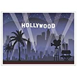 Blue Panda Photo Booth Background Hollywood Photography Backdrop Great Hollywood Theme Birthday Parties 5 x 7 Feet