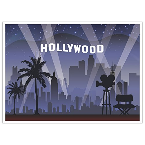 Blue Panda Photo Booth Background Hollywood Photography Backdrop Great Hollywood Theme Birthday Parties 5 x 7 Feet -