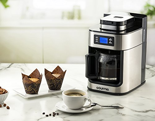 Gourmia GCM4700 With Built In - Programmable Cup Drip - - LCD Display 1050W - Stainless Steel