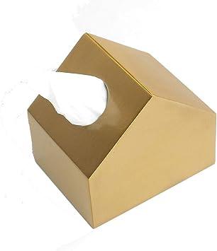 ZA Caja de pañuelos de Metal pequeña de latón, Cocina, Sala de Estar, Comedor, toallero de Papel, decoración de Escritorio, servilleta: Amazon.es: Hogar