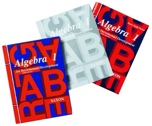 Saxon Algebra 1: An Incremental Approach (Homeschool Kit with Textbook, Solutions Manual, Test Booklet, Answer Key)
