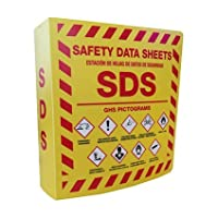 Bilingual-Right-to-Know-SDS-Center-Wire-Rack-and-3-Binder-with-GHS-Pictograms