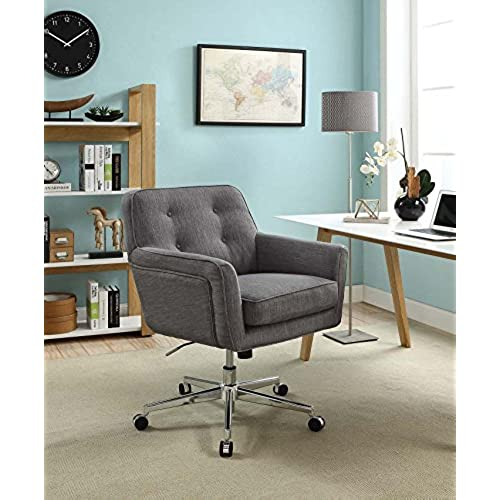 Lovely Serta Style Ashland Home Office Chair, Twill Fabric, Gray