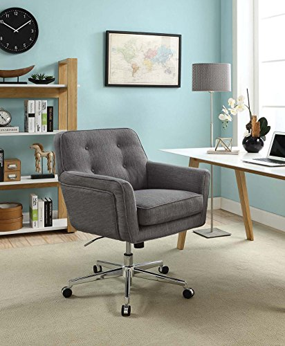 Serta Style Ashland Home Office Chair, Twill Fabric, Gray by Serta