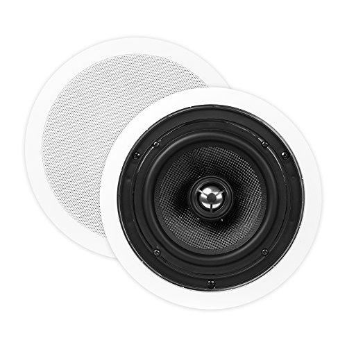 OSD ICE640 6.5'' In-Ceiling/In-Wall Speaker 150W w/Pivoting Titanium Dome Tweeter (White, Pair) by OSD Audio