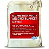 JJ Care Premium (4x6 ft) Heavy Duty Welding Blanket (850 GSM Thick) Fiberglass, Fire Retardant, Welding Curtain, Cover, Welding Shield, Fire Blanket, Fireproof, Thermal Resistant Insulation
