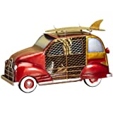 DecoBREEZE Red Woody Car Figurine Fan Single-Speed Electric Circulating Fan