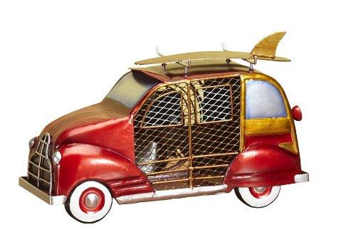 (DecoBREEZE Table Fan Two-Speed Electric Circulating Fan, Red Woody Car Figurine Fan)