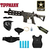 Tippmann US Army Project Salvo Paintball Marker Gun Chest Protector Mega Package