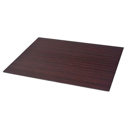 Fijo Night antideslizante silla Base – Esterilla para protección de suelos (bambú protector de suelo