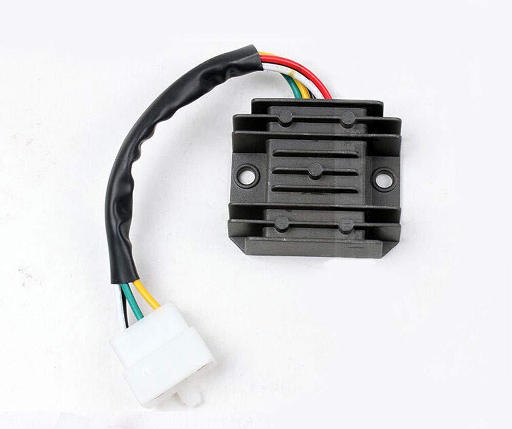 XuBa 5 Cables 12 V para Motocicleta de Campo ATV regulador rectificador 125 CC 150 CC 200 CC 250 CC