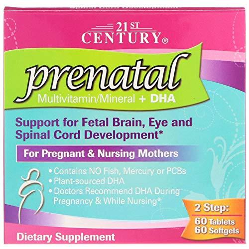 21st Century, Prenatal Multivitamin/Mineral + DHA, 2 Bottles, 60 Tablets / 60 Softgels