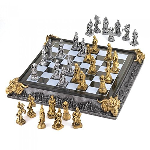 Medieval Chess Boards - Koehler 35301 17 Inch Medieval Knights Chess Game Set